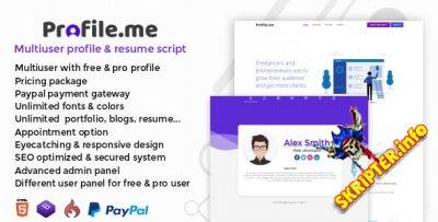 Profile.me v1.2 Nulled - многопользовательский профиль и резюме скрипт