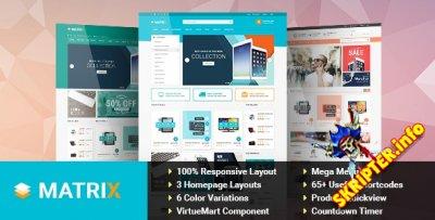 SJ Matrix v3.9.0 - шаблон интернет магазина для Joomla