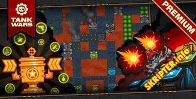 Tank Wars v1.1 - HTML5 Game 120 Levels + Level Constructor + Mobile