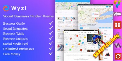 Wyzi v2.4.0 Nulled - WordPress тема для бизнес каталога или справочника