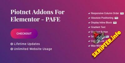 Piotnet Addons Pro For Elementor v5.0.5 Nulled - аддоны для Elementor