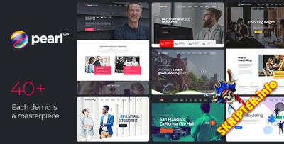 Pearl v3.2.3 Rus Nulled - корпоративный бизнес шаблон для WordPress