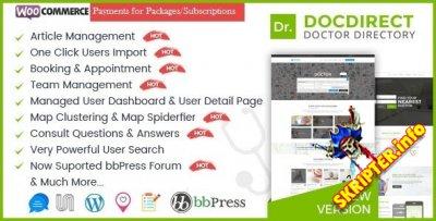 Directory DocDirect v8.0.5 Rus - WordPress шаблон для врачей и каталога медицинских услуг