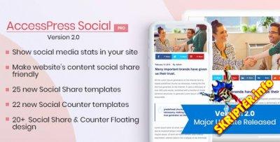AccessPress Social Pro v2.1.1 - социальные закладки для WordPress