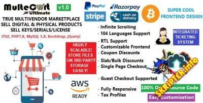 MulteCart Ultimate v1.0 - скрипт интернет-магазина