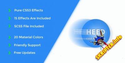 Heed v1.2 - CSS3 анимационные эффекты для сайта