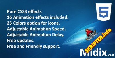 Midix v1.0 - CSS3 анимационные эффекты без Jquery