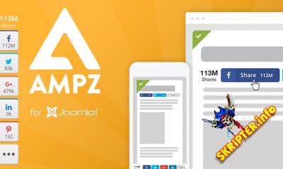 AMPZ Extended v3.6.8 - социальные кнопки для Joomla