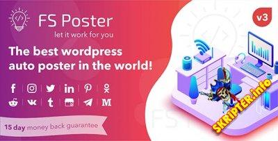 FS Poster v3.2.1 Nulled - автопостер и планировщик для WordPress