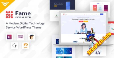 Fame v1.1 - цифровая технология / сервис WordPress тема