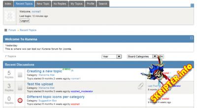 Blue Eagle 5 v1.5.2 - шаблон форума для Kunena