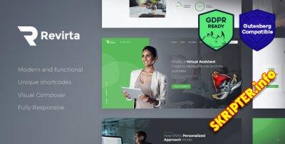 Revirta v1.2.3 - виртуальный помощник WordPress тема