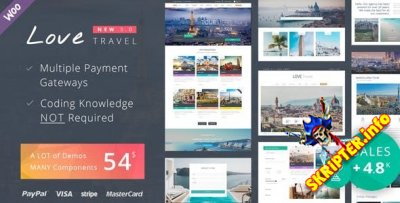 Love Travel v3.3 - многоцелевой шаблон для WordPress