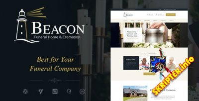 Beacon v1.3 - похоронный дом WordPress тема