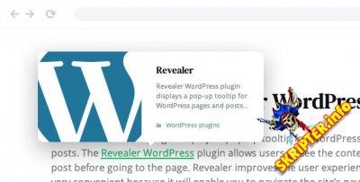 Revealer v1.0.2 - всплывающее окно навигации для ссылок WordPress