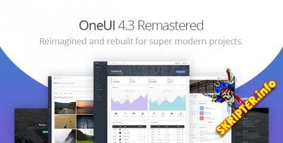 OneUI v4.3 - шаблон админ-панели Bootstrap 4