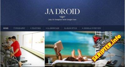 JA Droid v2.5.6 - шаблон сайта пансионата для Joomla