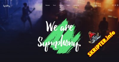 JA Symphony v2.0.0 - Joomla шаблон для сайта о музыке