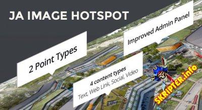 JA Image Hotspot v1.1.5 - модуль точек на карте мира для Joomla