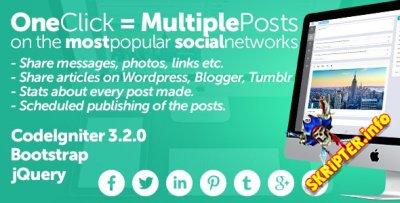 Midrub v0.0.8.0 - скрипт публикаций в социальные сети и блоги