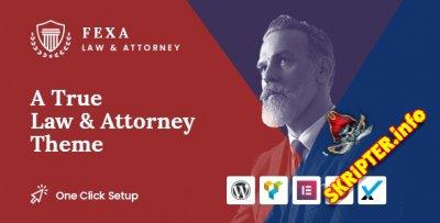 Fexa v1.0.0 - WordPress тема для юридических услуг
