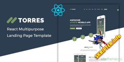 Torres v1.0 - шаблон целевой страницы на React