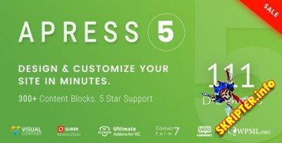 Apress v5.0.3 - гибкая многоцелевая WordPress тема