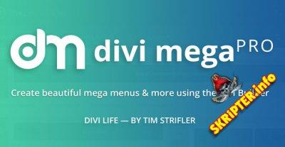 Divi Mega Pro v1.3.9 Nulled - конструктор меню для Divi Builder WordPress