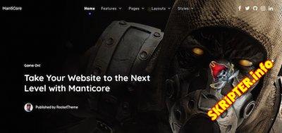 RT Manticore v1.0.2 - шаблон сайта об играх для Joomla