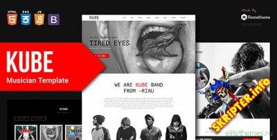 Kube v1.0 - музыкальный HTML шаблон