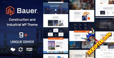 Bauer v1.2 - строительная WordPress тема