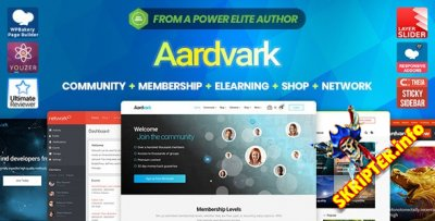 Aardvark v4.30 - тема WordPress для сообщества BuddyPress