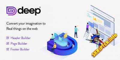 Deep v4.3.2 Nulled - креативная многоцелевая тема для WordPress
