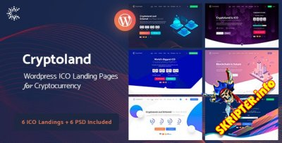 Cryptoland v2.2.3 - тема криптовалюты для WordPress