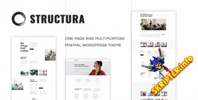 Structura v1.4.7 - одностраничная WordPress тема