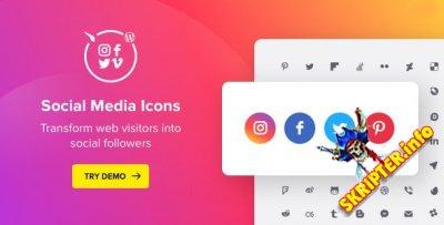 Social Media Icons v1.6.1 - плагин социальных иконок для WordPress