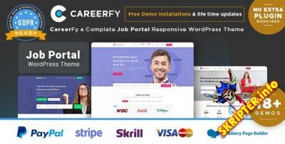 Careerfy v3.7.0 - шаблон доски объявлений для WordPress