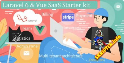 SaaSWeb, Laravel 6 & vue SaaS Starter kit v2.3 - стартовый комплект для SaaS-проекта