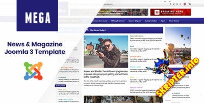 SJ MegaNews v3.9.6 - шаблон новостного сайта для Joomla