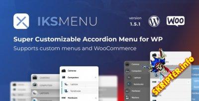 Iks Menu v1.7.6 Nulled - настраиваемое меню аккордеон для WordPress