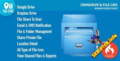 OwnDrive & File CMS v1.0 - файловый менеджер и хранилище файлов