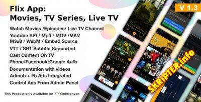 Flix App v1.3 - Movies / Tv Series / TV Channels