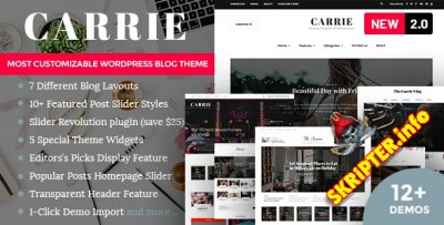 Carrie v2.0.1 - блоговая тема для WordPress
