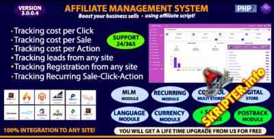 Affiliate Management System v3.0.0.4 Nulled - скрипт партнерской программы