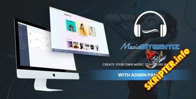 Streamz v1.0 - музыкальный потоковый сайт