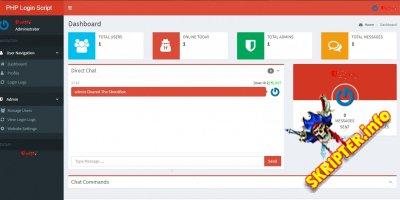 Secure PHP And AJAX Login Script v1.0 - безопасный скрипт входа