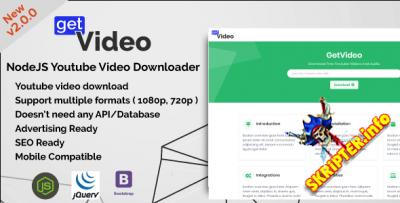 GetVideo v2.0.0 - скрипт скачивания видео с YouTube