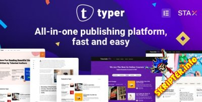 Typer v1.9.7 Nulled - WordPress тема для блогов и публикаций с несколькими авторами