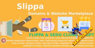 Slippa v2.9 Nulled - скрипт продажи доменов и веб-сайтов