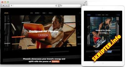 RT Phoenix v1.0.1 - шаблон фитнес центра для Joomla